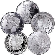 1 Troy Oz .999 Fine Silver Round USA Type (Lot of 5 Rounds) SKU41672