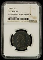 1808 1c Classic Head Large Cent - Retained Internal Die Break - NGC VF - Z1285