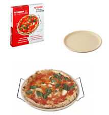Imperdibile pietra refrattaria con supporto manica inox piatto pizza da forno
