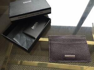 Hugo Boss Red Card Holder Small Wallet