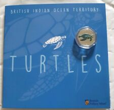 The Green Turtle 2019 50p Cupro Nickel Coloured Coin and Album