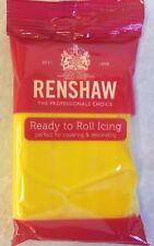 250g Amarillo Renshaw Regalice/Decorice-implementar Glaseado Sugarpaste/