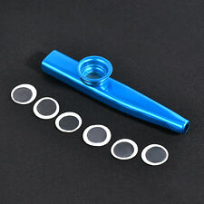 Blue Metal Kazoo Harmonica Mouth Flute Kids Party Gift Musical Instrument