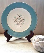 "Vintage Blue Meadow Breeze Syracuse Dinner Plate 10 3/4""- Blue Rim & Flowers"