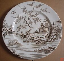 A J Wilkinson England Dinner Plate Oriental Scene Brown And White