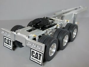 Aluminum Tamiya 1/14 R/C Semi Truck 3 Axles Dolly Trailer 5th with wheel Coupler