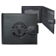 Manchester United FC Official Football Leather Wallet Embossed Crest Gift Boxed