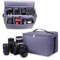Camera Bag Lens Insert Padded Case Partition Padded Cover For Canon Sony Nikon