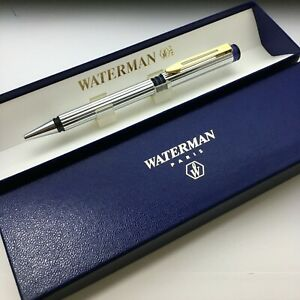 606 Waterman Ballpoint Pen Stainless Steel NOS Made in France