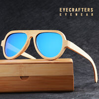 Luxury Handmade Bamboo Sunglasses Retro Pilot Wood Wooden Sunglasses Polarized e
