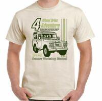 Defenders T-Shirt Manual Haynes Style Mens Funny 4X4 90 110 SVX Rover Top
