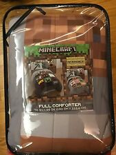 Minecraft Full/Double Comforter, brand new in packaging