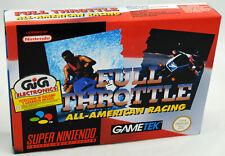 Jeu FULL THROTTLE sur Super Nintendo SNES Neuf carton d'usine version PAL NEW !