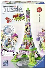 Ravensburger Puzzle 3d 12598 – Pop Art Edition, Torre Eiffel, Multicolore