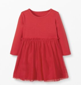 NWT HANNA ANDERSSON TULLE DRESS RED HOLIDAY CHRISTMAS VALENTINES 60 cm/3-6 MOS