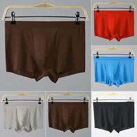 Mens Seamless Thin Ice Silk Pouch Underwear Sexy Boxer Briefs Knickers Lingerie
