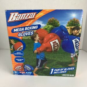 BANZAI Kids Inflatable MEGA BOXING GLOVES - New Open Box W/ Repair Patch