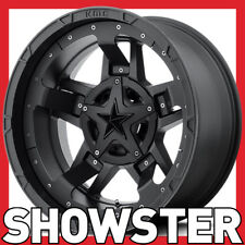 4 x 18x9 KMC XD WHEELS XD827 RS3 BLACK 8x180 ET0 Chevy Silverado 2500 3500