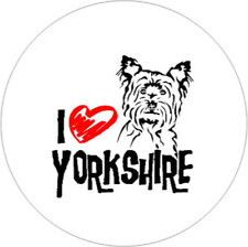 I Love Yorkshire Terrier [25mm Button]