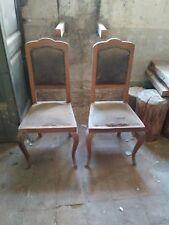 Coppia di antiche sedie metà 800