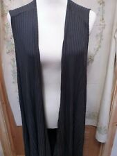 JOIN CLOTHING LONG WAISTCOAT CHARCOAL ONESIZE