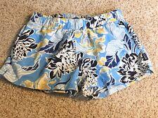 NWOT PATAGONIA Womens XS Blue Floral Nylon Baggie Shorts.Great shape.