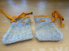vintage alte Baby Schuhe Hausschuhe Socken echt Lamm Fell Handarbeit