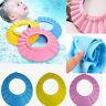 kids Baby Shampoo Bath Shower Hat Cap Wash Hair Waterproof Shield Adjustable B2Z