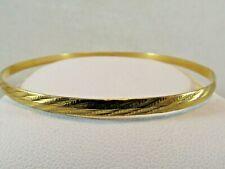 21k Gold Etched Bangle Dubai Bracelet   Size 8.25 x4mm  SALE  SAVE 1000.  #1442