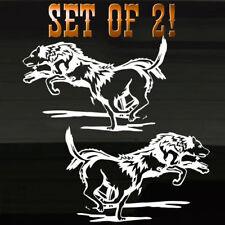"Wolf Pack Running Graphic TWO! Decals Stickers 8.5"" Alaska Alaskan Wolves Grafix"
