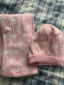 Girls Hat And Scarf Set Age 4-8 NWOT