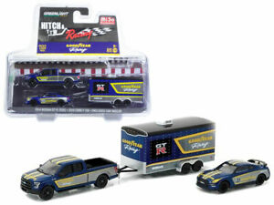 Greenlight Hitch and Tow 2014 Nissan R35 GT-R JDM GTR 2015 Ford F150 Goodyear