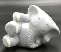 Vintage Hand Painted Cartoon Elephant Coin Bank, Signed By Artist