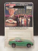 Majorette Dallas TV Series #247 Porsche 924 Green Die-Cast Metal France A
