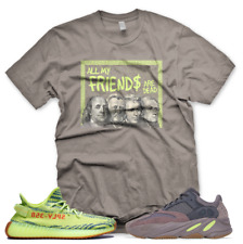 Brown DEAD PRESIDENTS T Shirt for Adidas Yeezy Boost 700 Mauve + 350 SEMI FROZEN