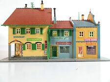 VAU-PE H0 Straßenzug 3x Wohnhäuser mit Geschäften - RARITÄT!!