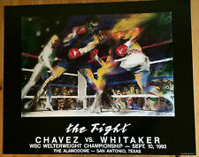 """LeRoy Neiman Lithograph Chavez VS. Whitaker, Made in 1993 """"The Fight"""""""