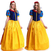 Halloween Cosplay Fancy Dress Princess Snow White Costume for Adult / Petticoat