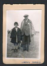 1931 Vintage Golf Photo (JAMES BRAID) Plus Autograph Sheet