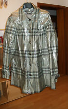 ORIGINAL BURBERRY LONDON REGENMANTEL CAPE NOVA CHECK GRAU GR. 36 NEU
