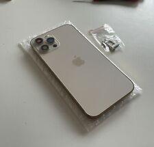 TOP NEU für iPhone 12 Pro Max Gehäuse Gold Backcover Rück Glas