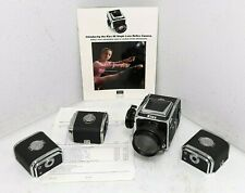 Kiev 88 C Slr Camera With Arsat B 88mm Lens, 3 Film Magazines, Filter & Papers