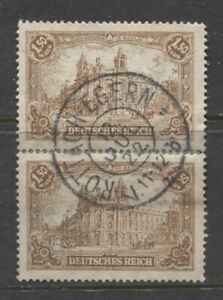 1920 GERMANY  pair 1.50 Mark issue used signed,  ROTTACH-EGERN