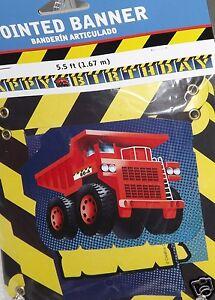 Construction Truck Letter Banner, Disposable Birthday Party Supplies Dump Truck