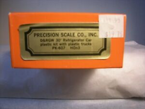 HOn3 Precision Scale Plastic D&RGW 30' Refrigerator  Car Kit