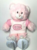 Build A Bear Pink Hockey Bear Montreal Canadiens NHL BAB Jersey, Skates CUTE