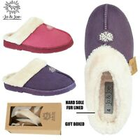Ladies Slippers Snuggle Fur Warm Womens Winter Mules Shoes Size 3 4 5 6 7 8
