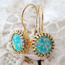 Women Opal Hook Earrings Trendy Gold Filled Dangle Drop Earring Fashion Jewelry