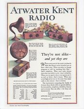 "ATWATER KENT 1927 Radio Fan SPEAKER Model No RECEIVER 8 x 11"" REPRINT of Vtg AD"