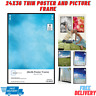 (2 Pack) 24x36 Thin Poster Picture Frame Black Display Protect Cover Showcase